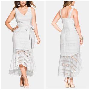 Size 14 & 16 City Chic White Lace Mermaid Dress